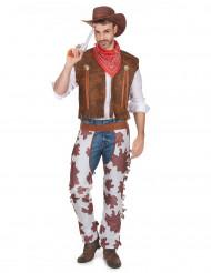Disfarce de cowboy homem
