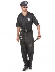 Disfarce de polícia preto para homem