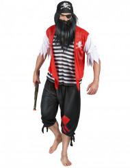 Disfarce de pirata com pala para homem