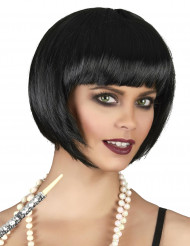 Peruca de cabelos curtos pretos para mulher