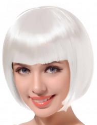 Peruca curta branca para mulher