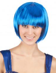 Peruca curta azul para mulher