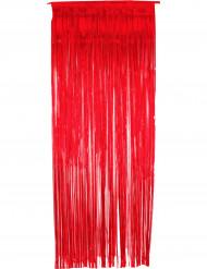 Cortina vermelha cintilante