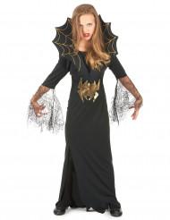 Disfarce de bruxa aranha para menina Halloween