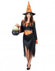 Disfarce bruxa aranha mulher Halloween