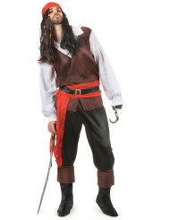 Disfarce de pirata calças pretas homem
