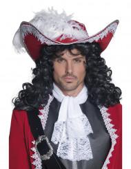 Chapéu de pirata vermelho adulto
