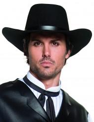 Chapéu de cowboy preto luxo adulto