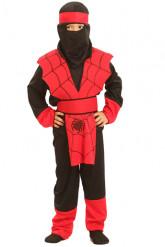 Disfarce ninja aranha rapaz