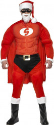 Disfarce Super Pai Natal musclado homem
