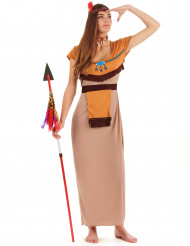 Disfarce índia mulher vestido comprido