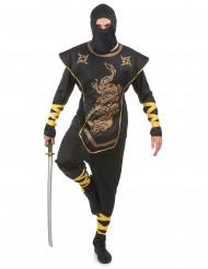 Disfarce ninja homem dragões dourados