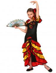 Disfarce de dançarina espanhola menina