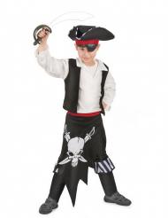 Disfarce pirata cinto vermelho menino