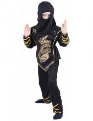 Disfarce de ninja menino dourado