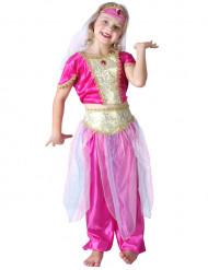 Disfarce bailarina oriental rosa menina