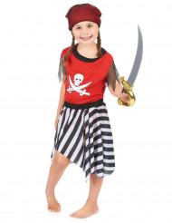 Disfarce de pirata vermelha para menina