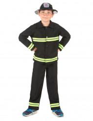 Disfarce de bombeiro para menino amarelo e preto