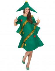 Disfarce de árvore de Natal engraçado mulher