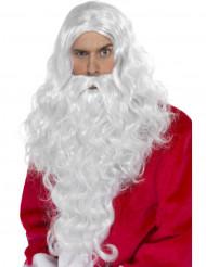 Peruca e barba de Pai Natal - adulto