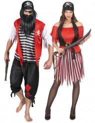 Disfarce de casal pirata