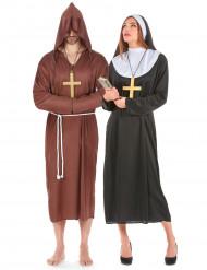 Disfarce de casal monge e freira