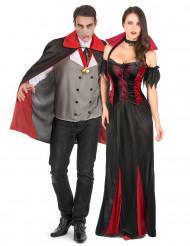 Disfarce de casal vampiro Halloween