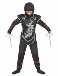 Disfarce de ninja menino prateado