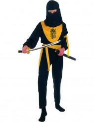 Disfarce de ninja menino amarelo e preto