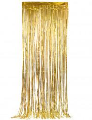 Cortina cintilante dourada