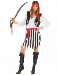 Disfarce pirata dos mares mulher