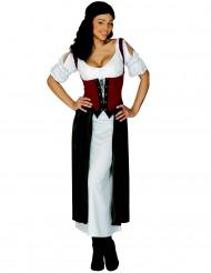 Disfarce vestido Lucrezia mulher