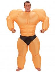 Disfarce humoristico insuflável de bodybuilder para adulto