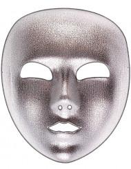 Máscara prateada adulto