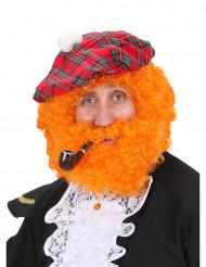 Peruca de escocês cor-de-laranja homem