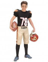 Disfarce futebolista americano rapaz