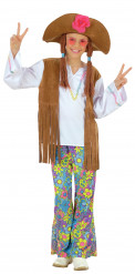 Disfarce hippie multicolor menina