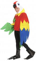 Disfarce de papagaio para criança