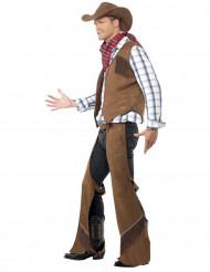 Disfarce de cowboy para homem faroeste