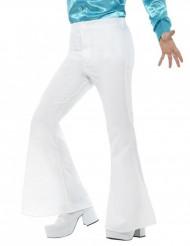 Calças de disco brancas para homem