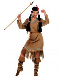 Disfarce índia mangas compridas mulher