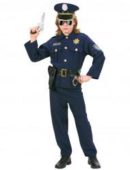 Disfarce de polícia azul para rapaz