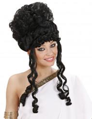 Peruca preta de deusa mulher