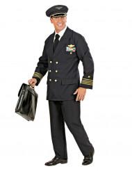 Disfarce de piloto de avião para homem