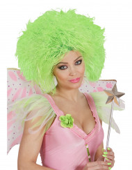 Peruca verde fluorescente para mulher