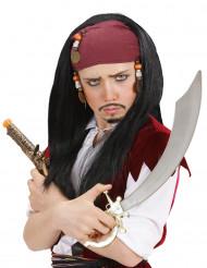 Peruca de pirata criança