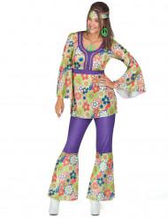 Disfarce de hippie mulher