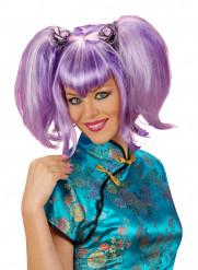 Peruca violeta chinesa para mulher