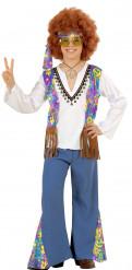 Disfarce azul de hippie para homem