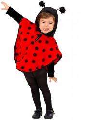 Poncho joaninha para menina